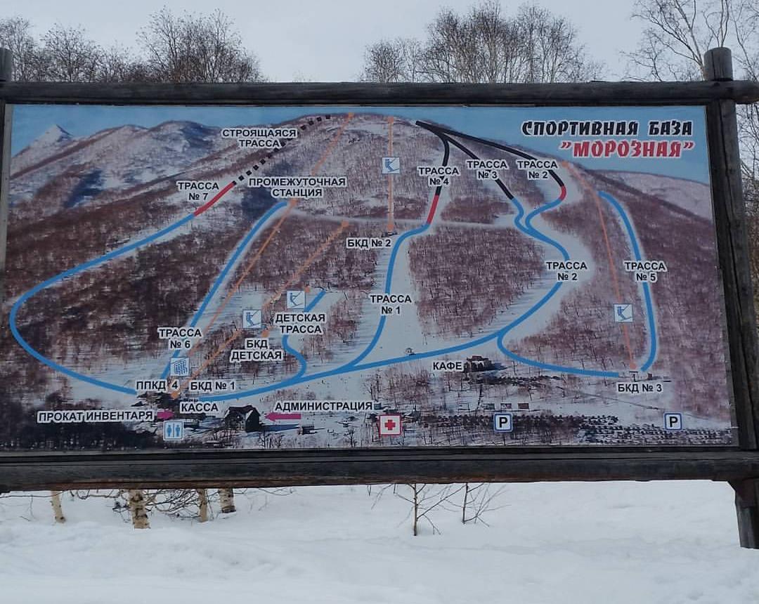 схемы трасс гора морозная